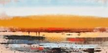 Landscape 1 | Painting by artist Reba Mandal | acrylic | Canvas
