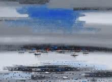Reba Mandal | Acrylic Painting title Landscape 2 on Canvas
