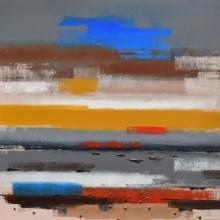 Landscape 5 | Painting by artist Reba Mandal | acrylic | Canvas