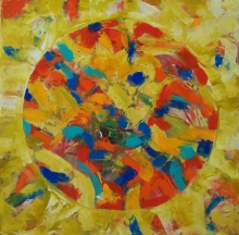 Abstract Acrylic Art Painting title Abstract 1 Acrylic On Canvas 24x24 Inche by artist Prasanta Acharjee