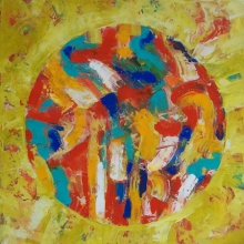 Abstract Acrylic Art Painting title Abstract Acrylic On Canvas 24x24 Inches by artist Prasanta Acharjee