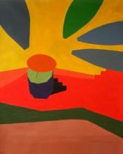 Abstract Acrylic Art Painting title Varanasi 4 Acrylic On Canvas 30x36 Inch by artist Prasanta Acharjee