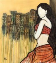 contemporary Acrylic Art Painting title Prarabdh by artist Mrinal Dutt