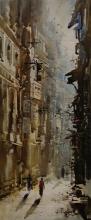 Cityscape Acrylic Art Painting title Kolkata Streets 3 by artist Ashif Hossain