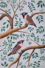 Birds 4 | Painting by artist Santosh Patil | postercolor | Paper