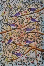 Birds 5 | Painting by artist Santosh Patil | postercolor | Paper