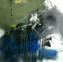 Gulrez Ali | Acrylic Painting title Space 32 on Canvas | Artist Gulrez Ali Gallery | ArtZolo.com