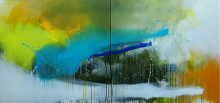 Gulrez Ali | Acrylic Painting title Space 25 on Canvas | Artist Gulrez Ali Gallery | ArtZolo.com