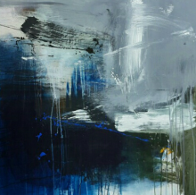 Gulrez Ali | Acrylic Painting title Space 23 on Canvas | Artist Gulrez Ali Gallery | ArtZolo.com