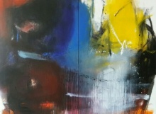 Abstract Acrylic Art Painting title Space 59 by artist Gulrez Ali