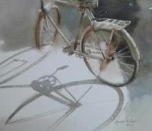 My partner | Painting by artist Ajay Dharmadhikari | watercolor | Paper