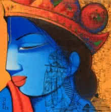 Lord Krishna And Radha | Painting by artist Anand Panchal | acrylic | Canvas