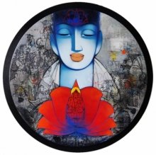 Religious Acrylic Art Painting title Spiritual 1 by artist Anand Panchal