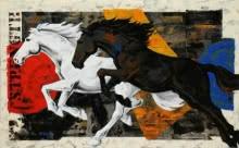 Devidas Dharmadhikari | Acrylic Painting title Horse 119 on canvas | Artist Devidas Dharmadhikari Gallery | ArtZolo.com