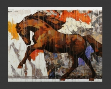 Animals Acrylic Art Painting title 'HORSE SERIES -156' by artist Devidas Dharmadhikari