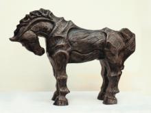 Fiberglass Sculpture titled 'Horse 1' by artist Devidas Dharmadhikari