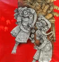 art, beauty, acrylic, painting, canvas, figurative