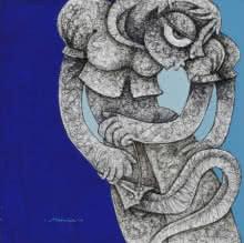 Untitled 7 | Painting by artist Mahavir  Verma | acrylic-ink | paper