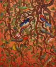 Roy K John | Acrylic Painting title Bird Series on Canvas | Artist Roy K John Gallery | ArtZolo.com