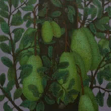 Nature Acrylic Art Painting title 'Jack Fruit' by artist Roy K John