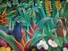 Animals Oil Art Painting title 'Animals' by artist Murali Nagapuzha
