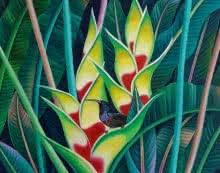 Animals Acrylic Art Painting title 'Bird 2' by artist Murali Nagapuzha