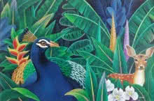 Murali Nagapuzha | Acrylic Painting title Nature 3 on Canvas | Artist Murali Nagapuzha Gallery | ArtZolo.com
