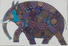 Animals Mixed-media Art Painting title Elephant by artist Sreekanth Kurva