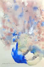 Dilip Dudhane | Watercolor Painting title Untitled 13 on Paper | Artist Dilip Dudhane Gallery | ArtZolo.com