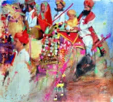 Untitled 1 | Painting by artist Dilip Dudhane | acrylic | Canvas