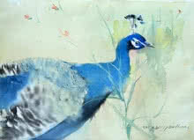 Animals Watercolor Art Painting title 'Untitled 25' by artist Dilip Dudhane