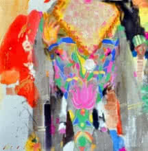 Dilip Dudhane | Acrylic Painting title Untitled 8 on Canvas | Artist Dilip Dudhane Gallery | ArtZolo.com