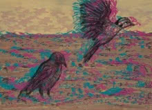 Lets Fly Away To A Better Place | Painting by artist Durgaprasad Bandi | acrylic-charcoal | Canvas