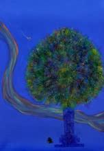 Krishna With Tulsi 2 | Painting by artist Vijay Ganorkar | acrylic | Canvas