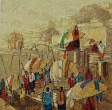Yashwant Shirwadkar | Oil Painting title Banaras 2 on Canvas | Artist Yashwant Shirwadkar Gallery | ArtZolo.com