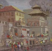 Banaras 3 | Painting by artist Yashwant Shirwadkar | oil | Canvas