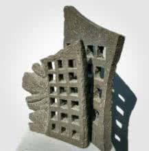 Stone Sculpture titled 'Window 3' by artist Yogesh Lokhande