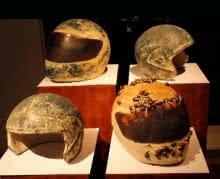 Helmet Series 1   Sculpture by artist Triveni Tiwari   Ceramic