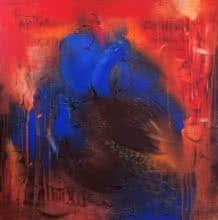 art, beauty, painting, acrylic, canvas, bird, peacock