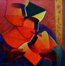 Life 148 | Painting by artist Nawal Kishore | acrylic | Canvas