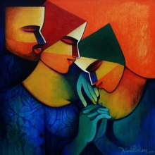 Figurative Acrylic Art Painting title Untitled 1 by artist Nawal Kishore
