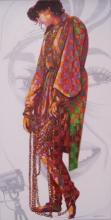 Figurative Acrylic Art Painting title 'Madhubala' by artist Sonaly Gandhi