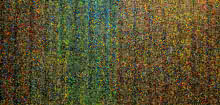 Abstract Oil Art Painting title 'Untitled 5' by artist Suraj Lohar
