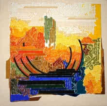 Veena Chitrakar | Acrylic Painting title Symphony in Yellow 2 on Canvas | Artist Veena Chitrakar Gallery | ArtZolo.com