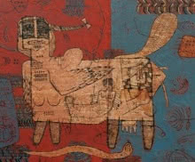 Sagar Kamble | Mixed-media Painting title Towards The Culture 4 on Canvas | Artist Sagar Kamble Gallery | ArtZolo.com