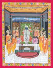 art, traditional, pichwai, cloth, religious, god