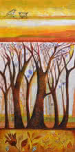 Nature Acrylic Art Painting title 'In The Woods' by artist Shilpa Pachpor