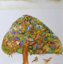 Nature Acrylic Art Painting title 'The Dreaming Tree' by artist Shilpa Pachpor