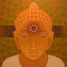 Religious Acrylic Art Painting title 'Gautama Buddha' by artist Bhiva Punekar