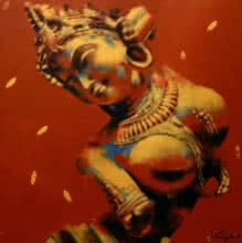 Nartika | Painting by artist Devendra Nimbargikar | acrylic | Canvas